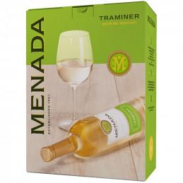вино бяло Менада траминер 3л
