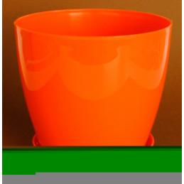 саксия гладка оранжева ф18 3л