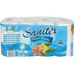 тоалетна хартия Sanitex 8бр...