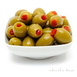 маслини зелени с чушка...