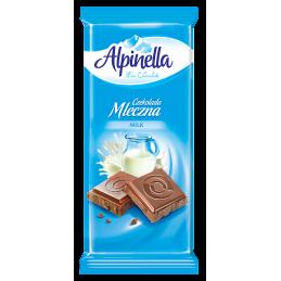 шоколад Alpinella млечен 90гр