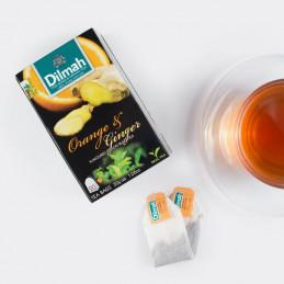 чай портокал и джинджифил...