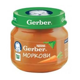 пюре Gerber моркови 80мл
