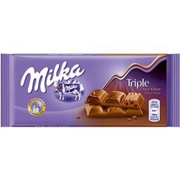 шоколад Milka triple choc 90гр