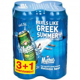 бира Mythos 4.7- кен 500мл 3+1