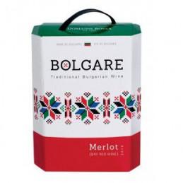 вино червено Болгаре мерло 3л